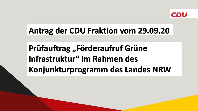 Antrag der CDU Fraktion vom 29.09.20