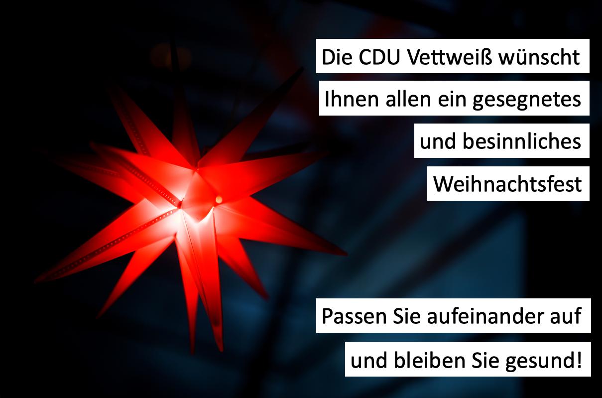 CDU Vettweiß wünscht frohe Weihnachten