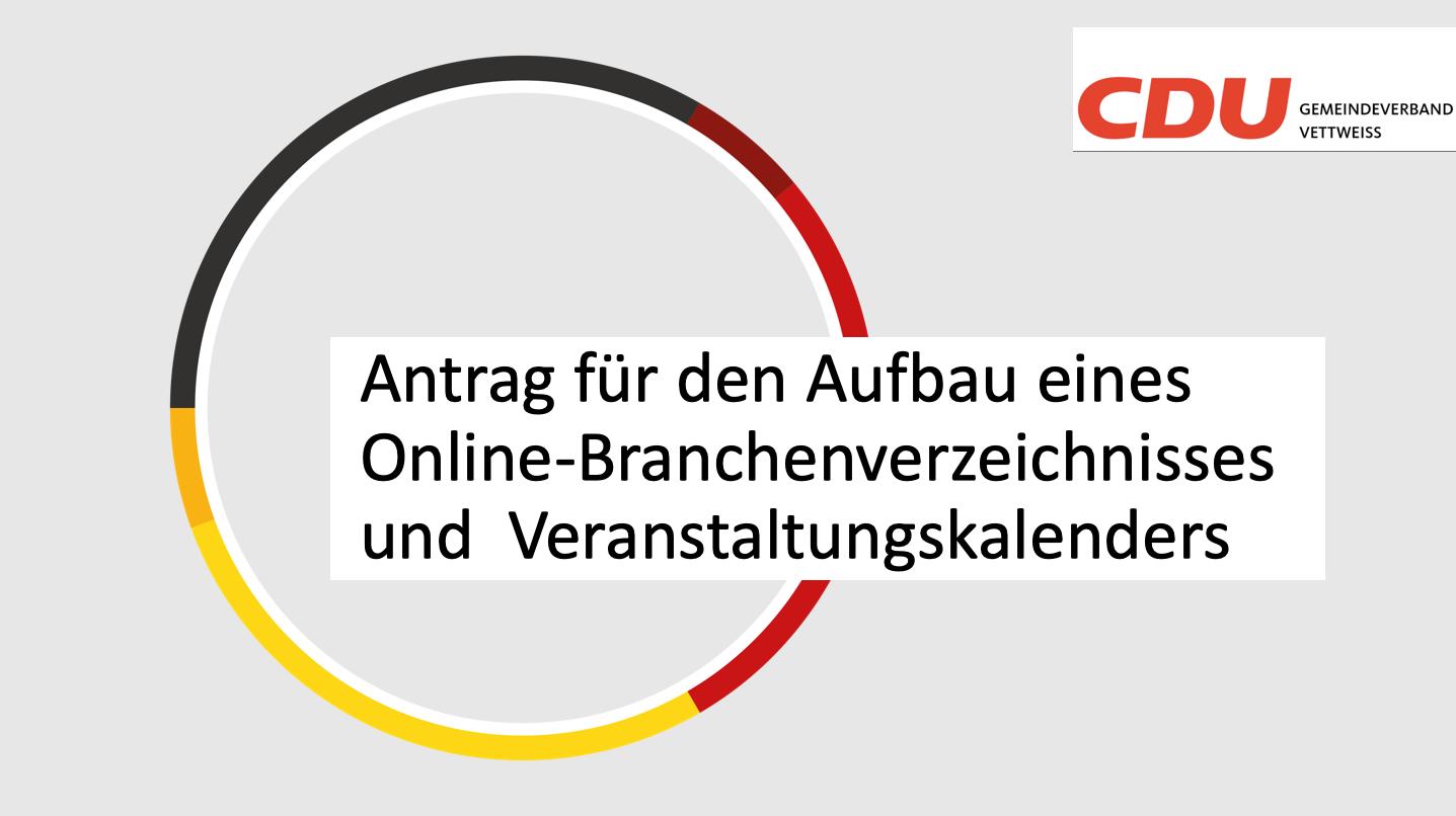 Antrag der CDU Fraktion vom 24.01.21