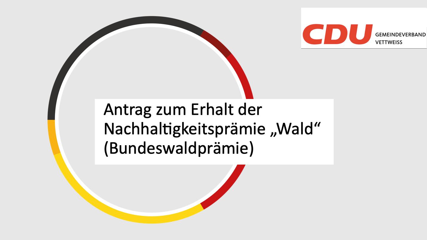 Antrag der CDU Fraktion vom 04.02.21