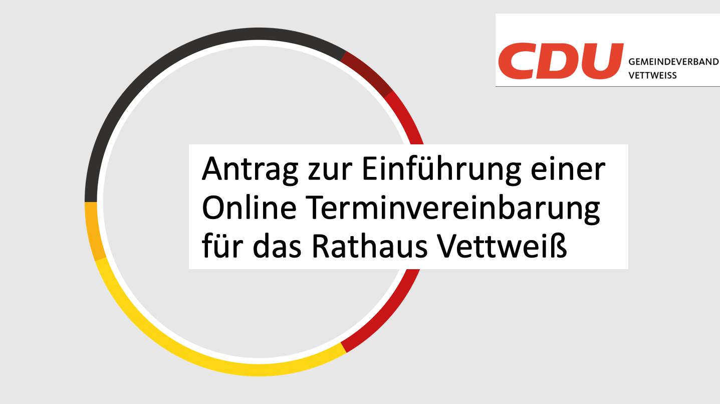Antrag der CDU Fraktion vom 14.03.21