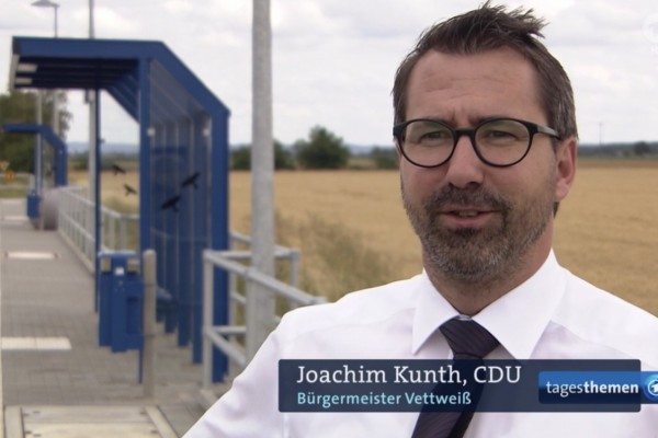 Bürgermeister Joachim Kunth in den Tagesthemen am 09.07.2020
